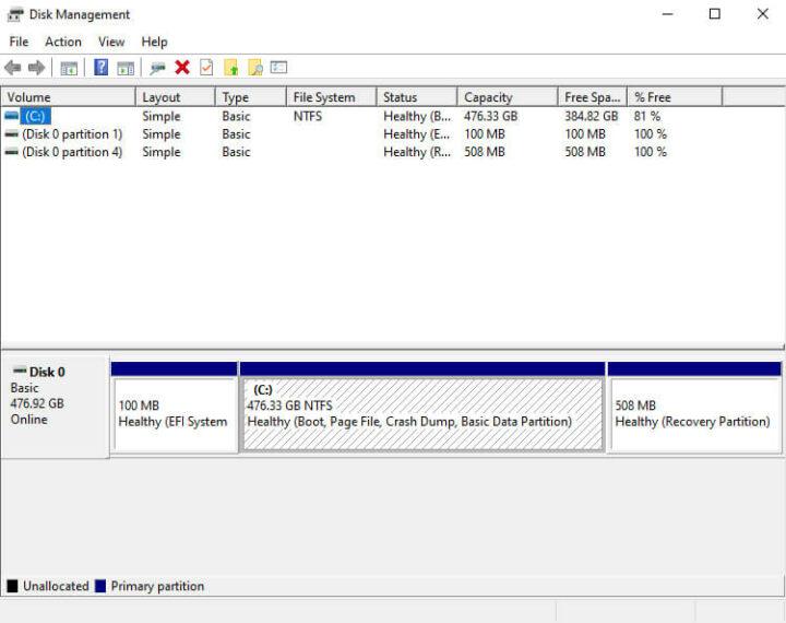 GP-3000 上的windows硬盘管理