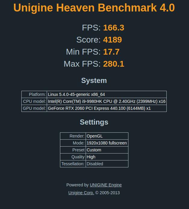 Linux 基准测试结果