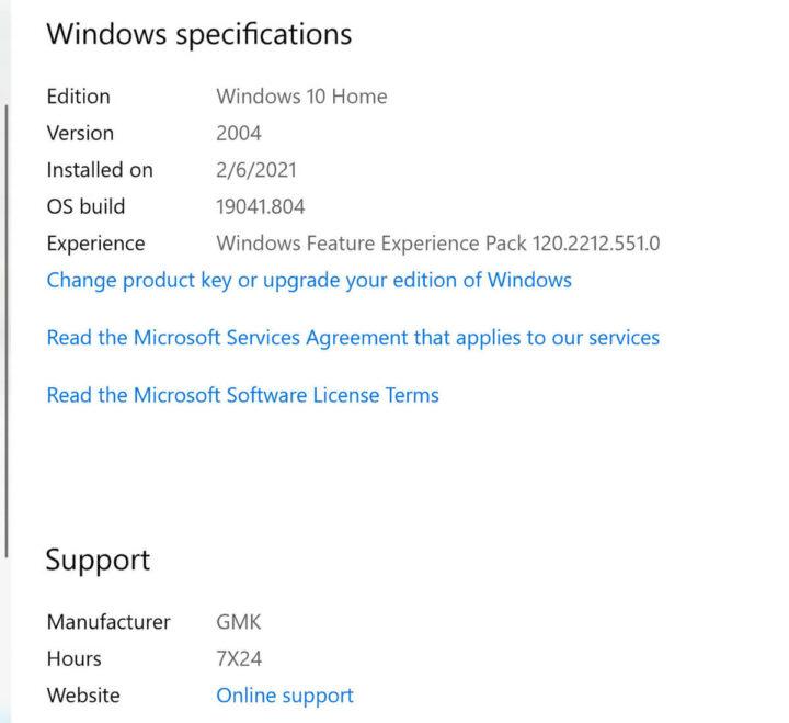 NucBox2 Windows规格