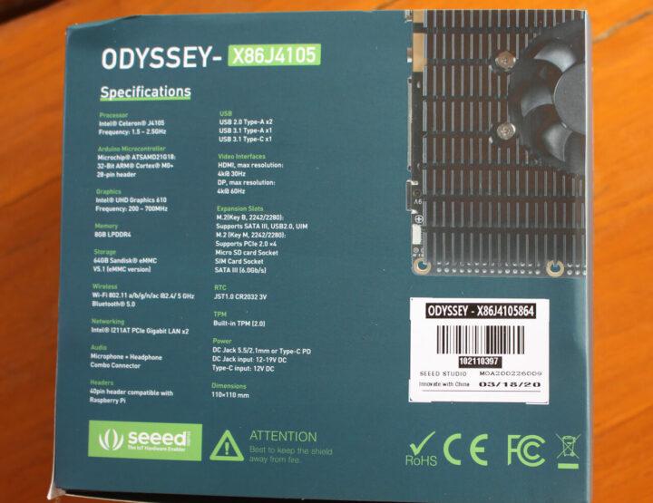 ODYSSEY-X86J4105 规格
