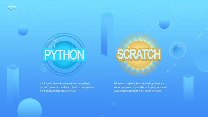 Python和scratch课程选择界面