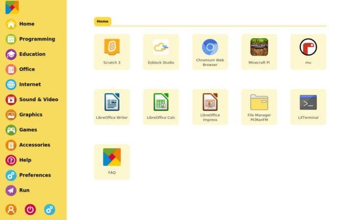 RasPad 操作系统用户界面