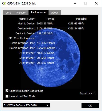 windows cuda-z传输速度测试结果