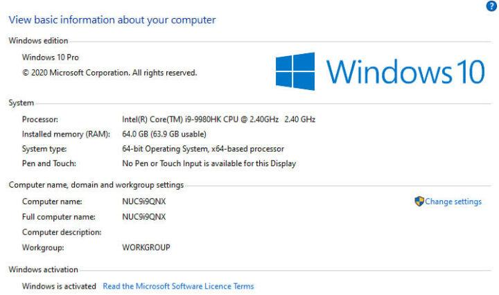 windows-info-NUC9i9QNX