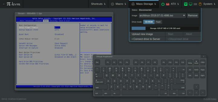 通过PKVM的Web UI访问BIOS