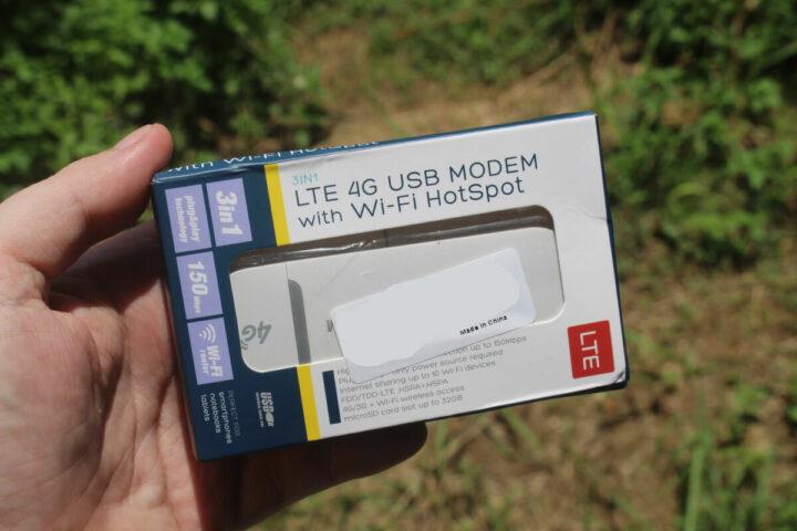 4G WiFi调制解调器的外包装