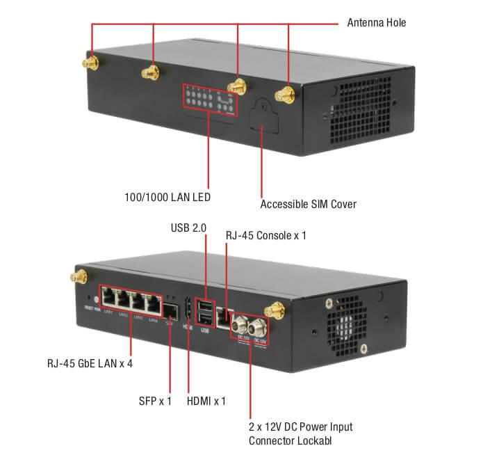 AAEON FWS-2280 Elkhart Lake 网络设备接口展示