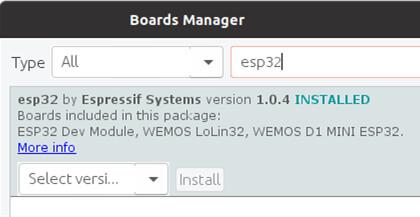 Arduino ESP32开发板管理器