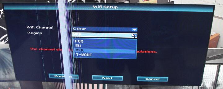 FCC、EU、MKK、T-Mode等WiFi地区的设置