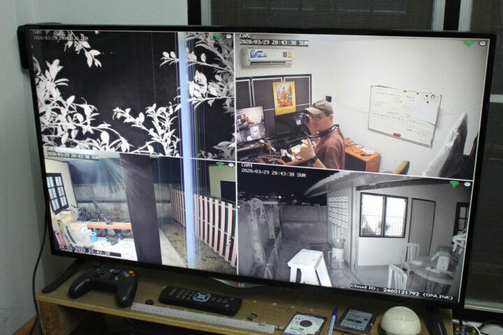 HeimVision HM241NVR四个摄像头的监控画面