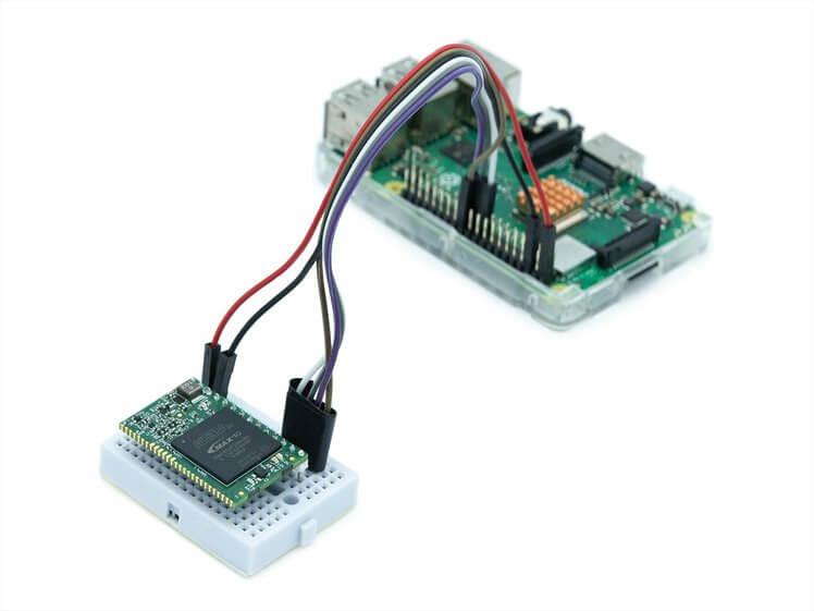 Kryptor FPGA同树莓派3模块连接图