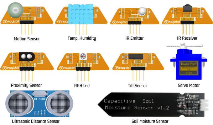 Magicbit Pro Kit 传感器