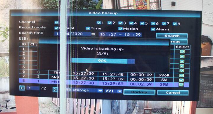 NVR视频备份