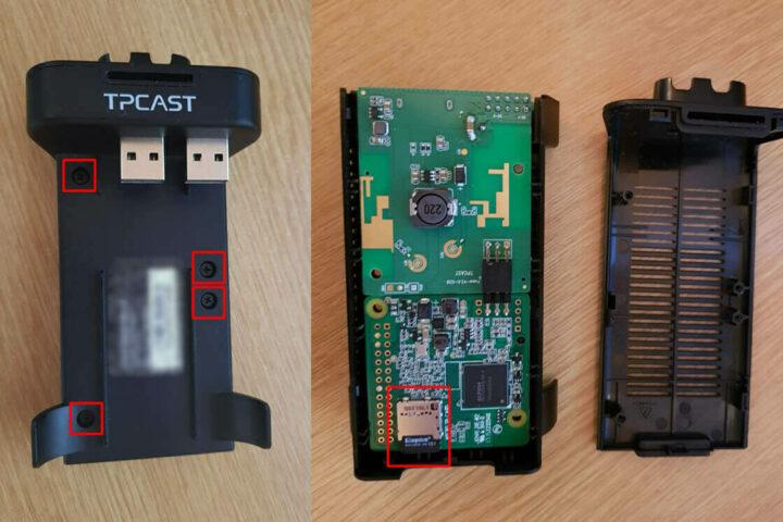TPCast无线适配器树莓派3迷你板