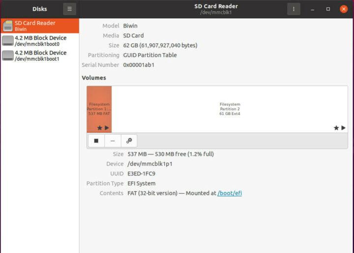 Ubuntu 20.04.2下关键硬件信息