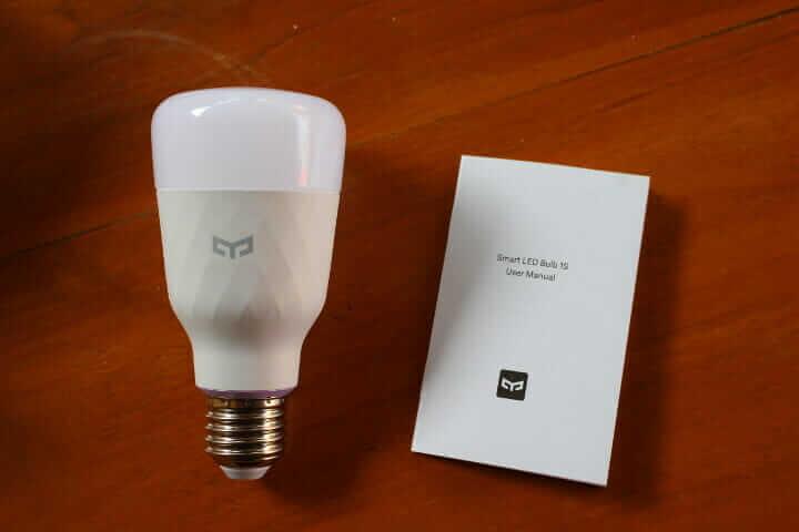 Yeelight LED 1S(彩色)灯泡 开箱