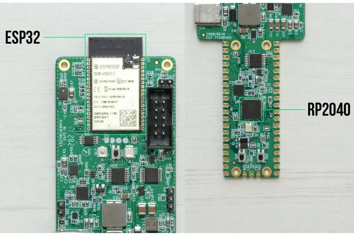 包含ESP32和RP2040的UDOO KEY板