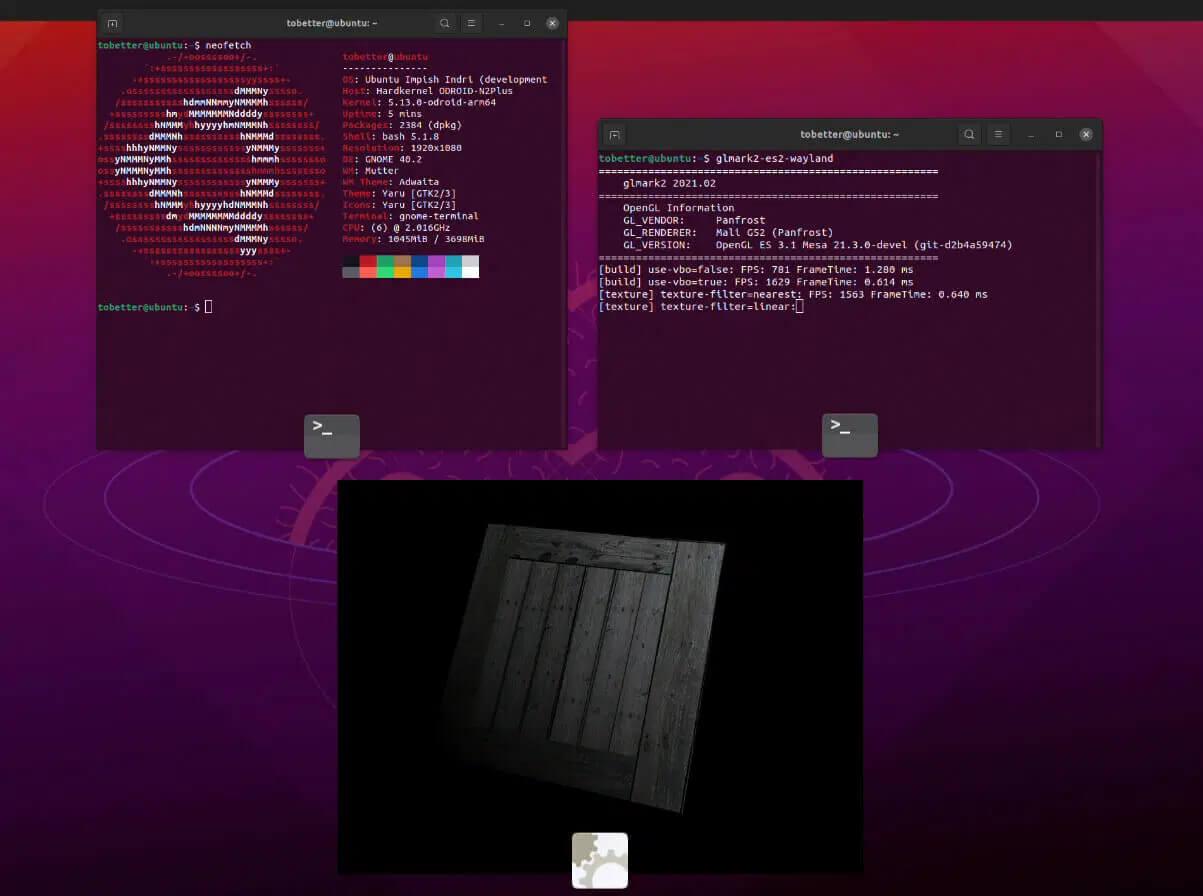 在ODROID-N2+上运行带有Panfrost 的Ubuntu 21.10
