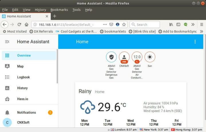 ANAVI气体检测器Home Assistant