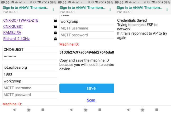 ANAVI温度计WiFi MQTT配置