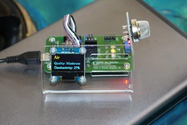 ANAVI ESP8266气体探测器的显示屏