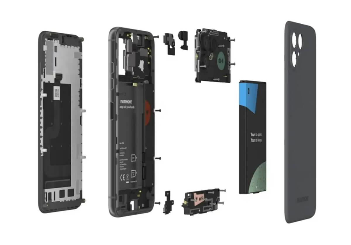 Fairphone 4 分解图