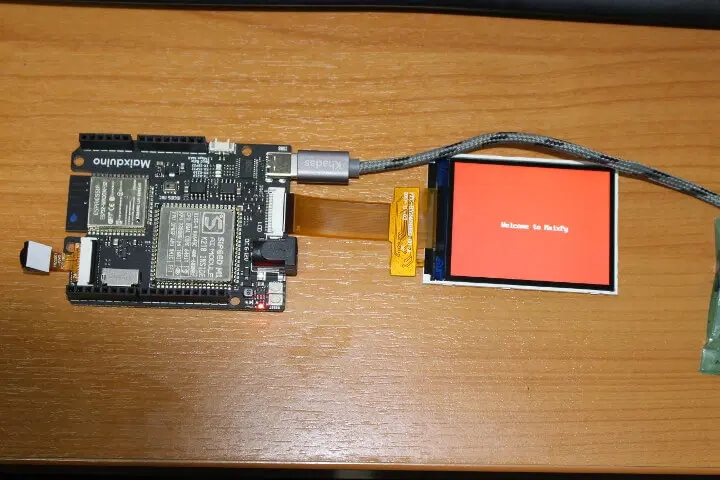 Maxiduino 开发板启动欢迎语